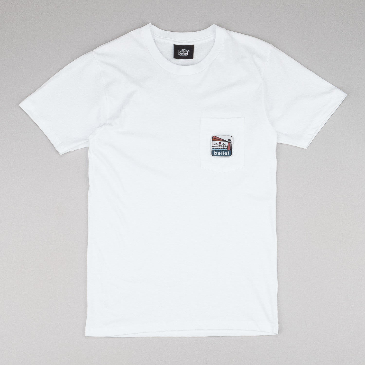 Belief Atlantic Pocket T-Shirt - White