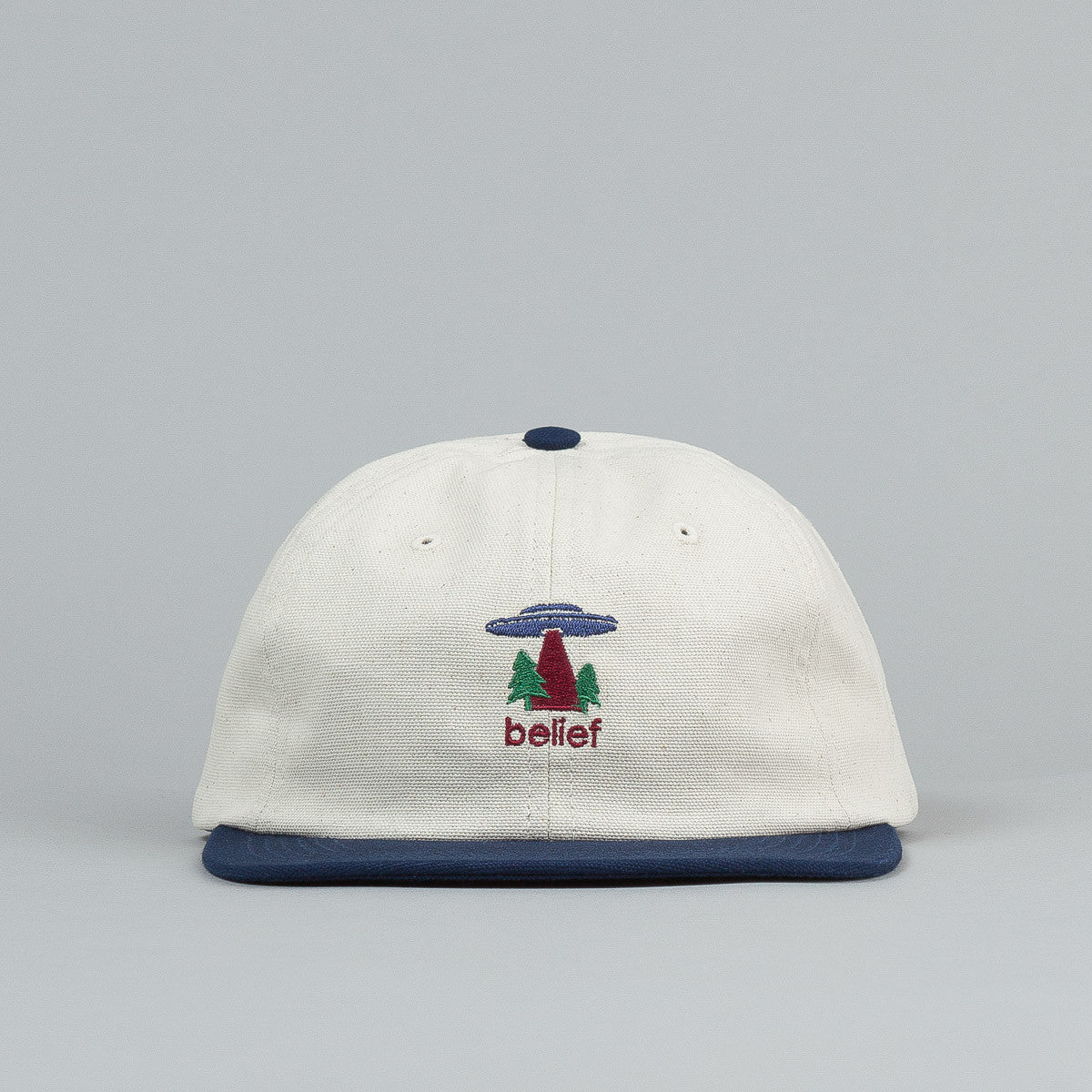 Belief Believe 6 Panel Cap - Natural / Navy