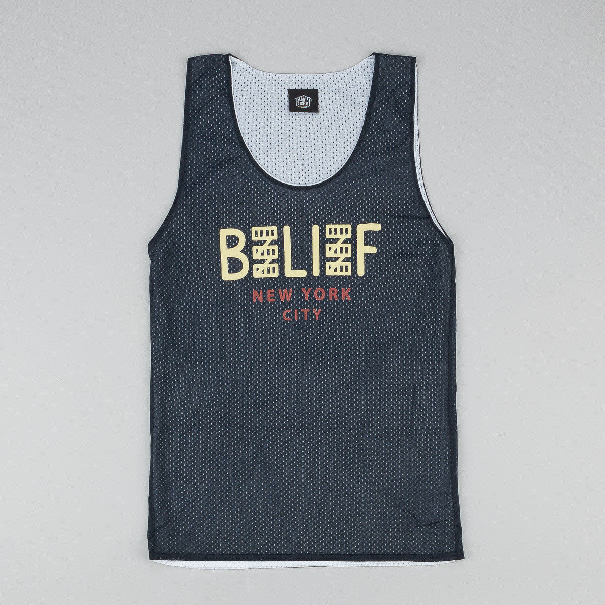 Belief City Block Basketball Jersey - Navy