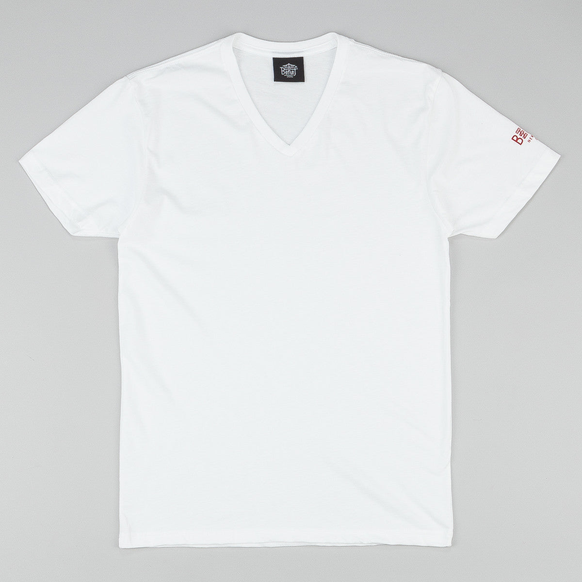 Belief City Block V-Neck T-Shirt - White