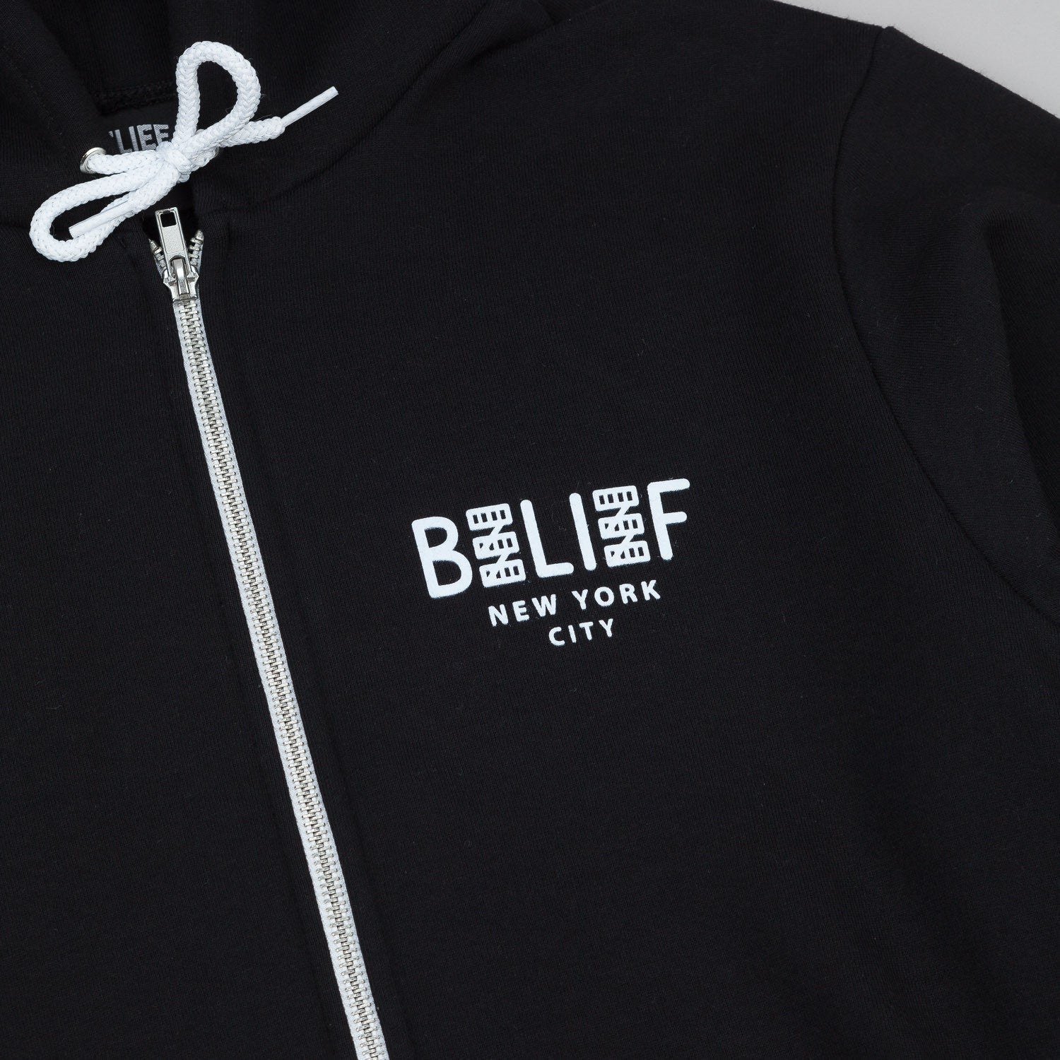 Belief City Block Zip Hooded Sweatshirt - Black