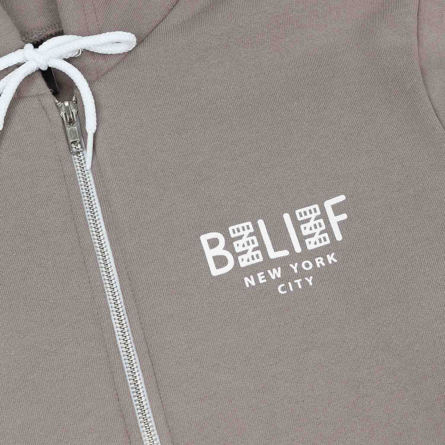 Belief City Block Zip Hooded Sweatshirt - Pewter