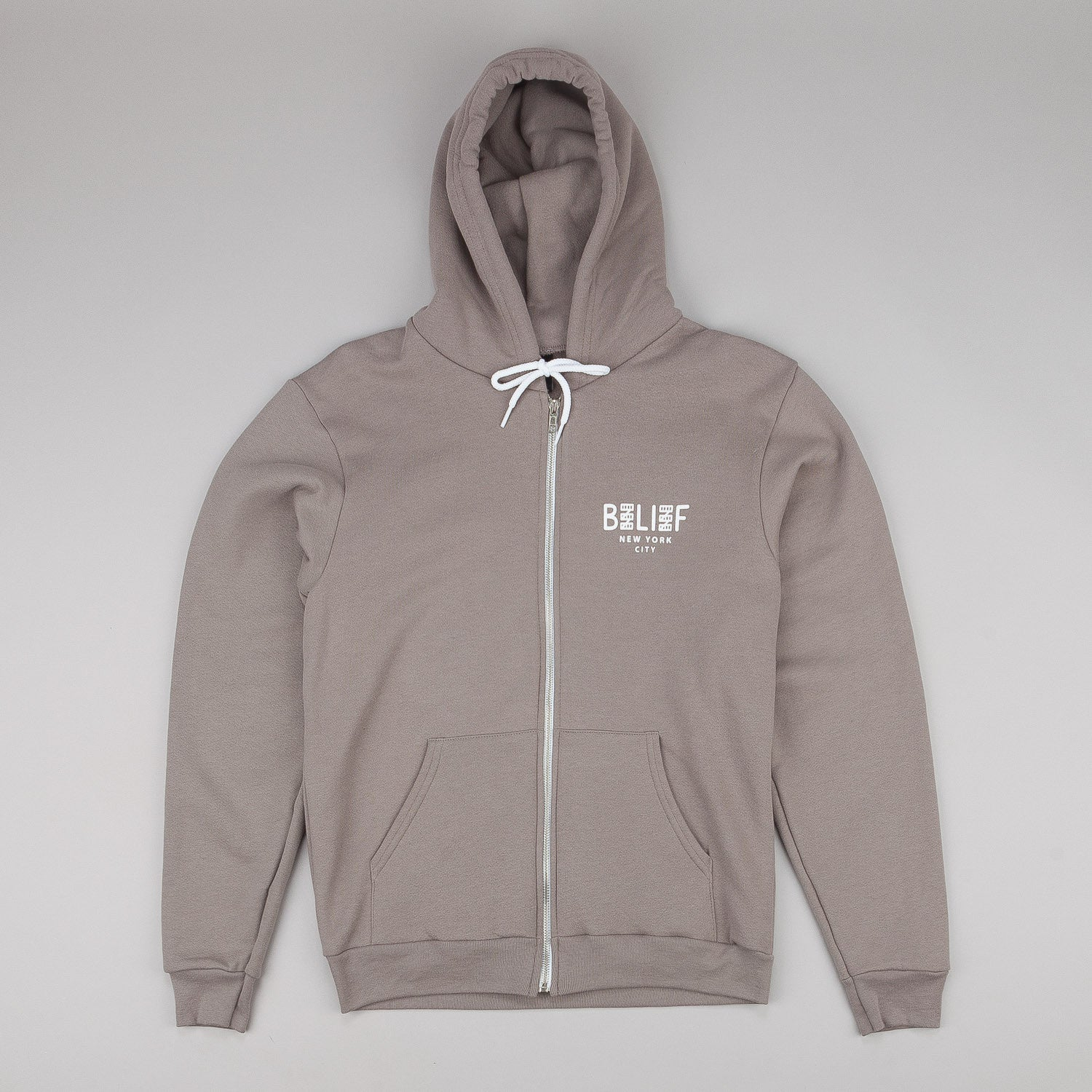 Belief City Block Zip Hooded Sweatshirt