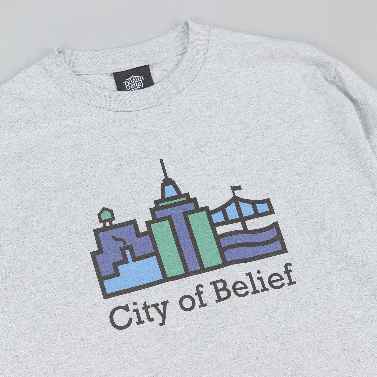Belief Crossroads Long Sleeve T-Shirt - Athletic Heather
