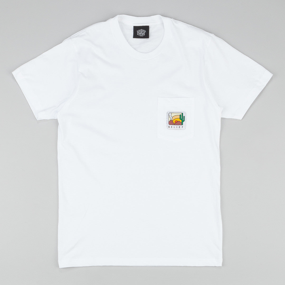 Belief Drylands Pocket T-Shirt - White