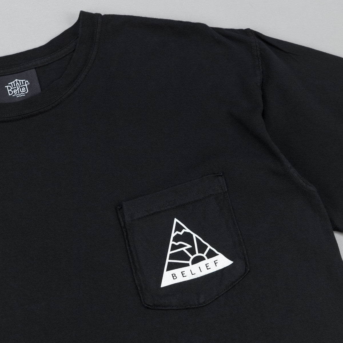 Belief Horizon Pocket T-Shirt - Black