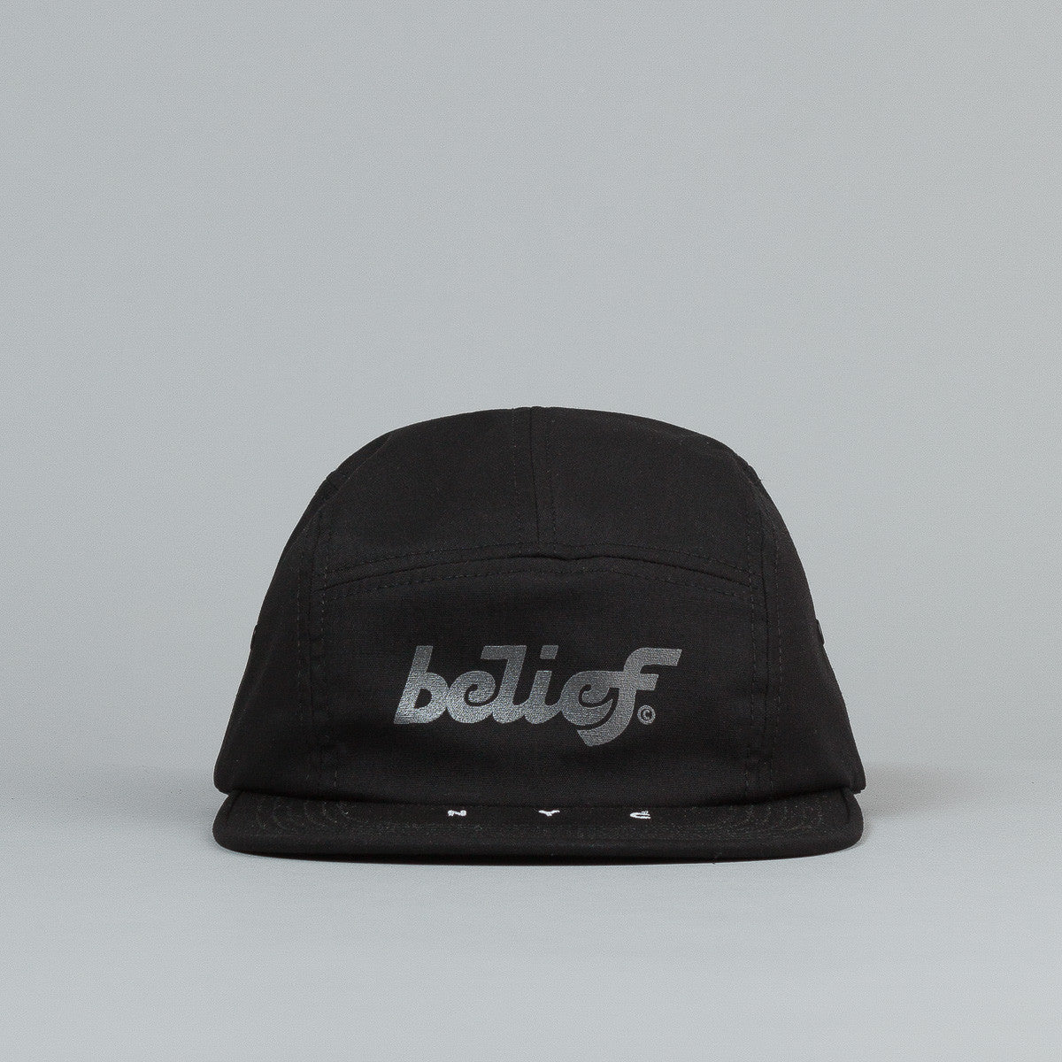 Belief League 5 Panel Cap - Black / 3M