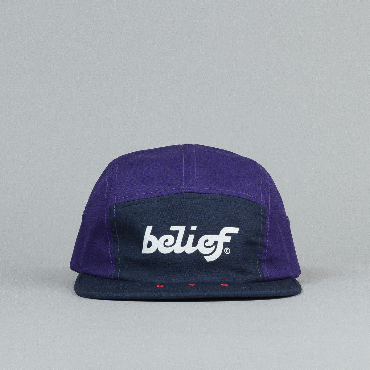 Belief League 5 Panel Cap - Purple / Navy