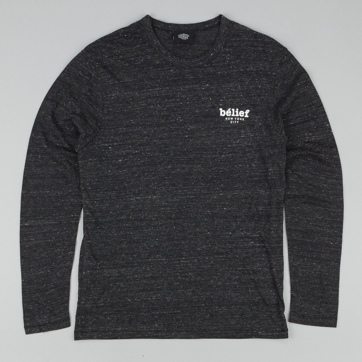 Belief Market Longsleeve T-Shirt - Eco Black
