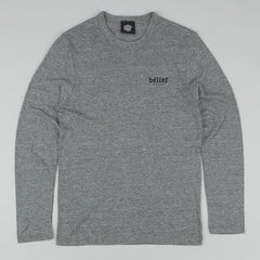 Belief Market Longsleeve T-Shirt - Eco Grey