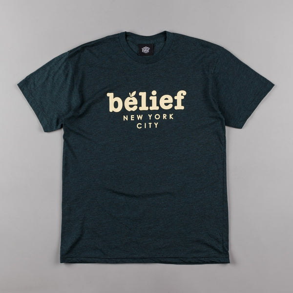 Belief Market T-Shirt - Black Aqua