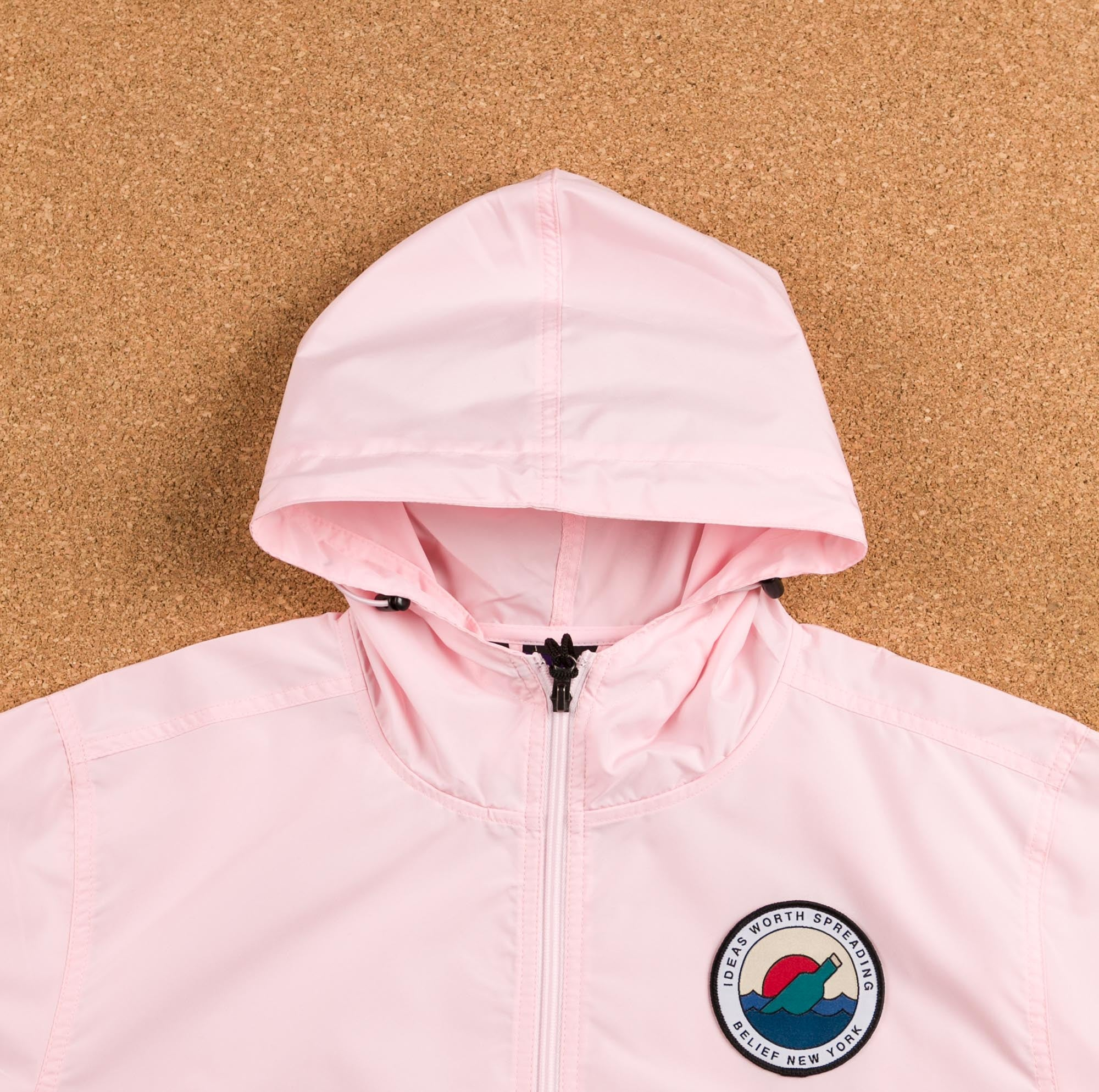 Belief Message Windbreaker Jacket - Soft Pink