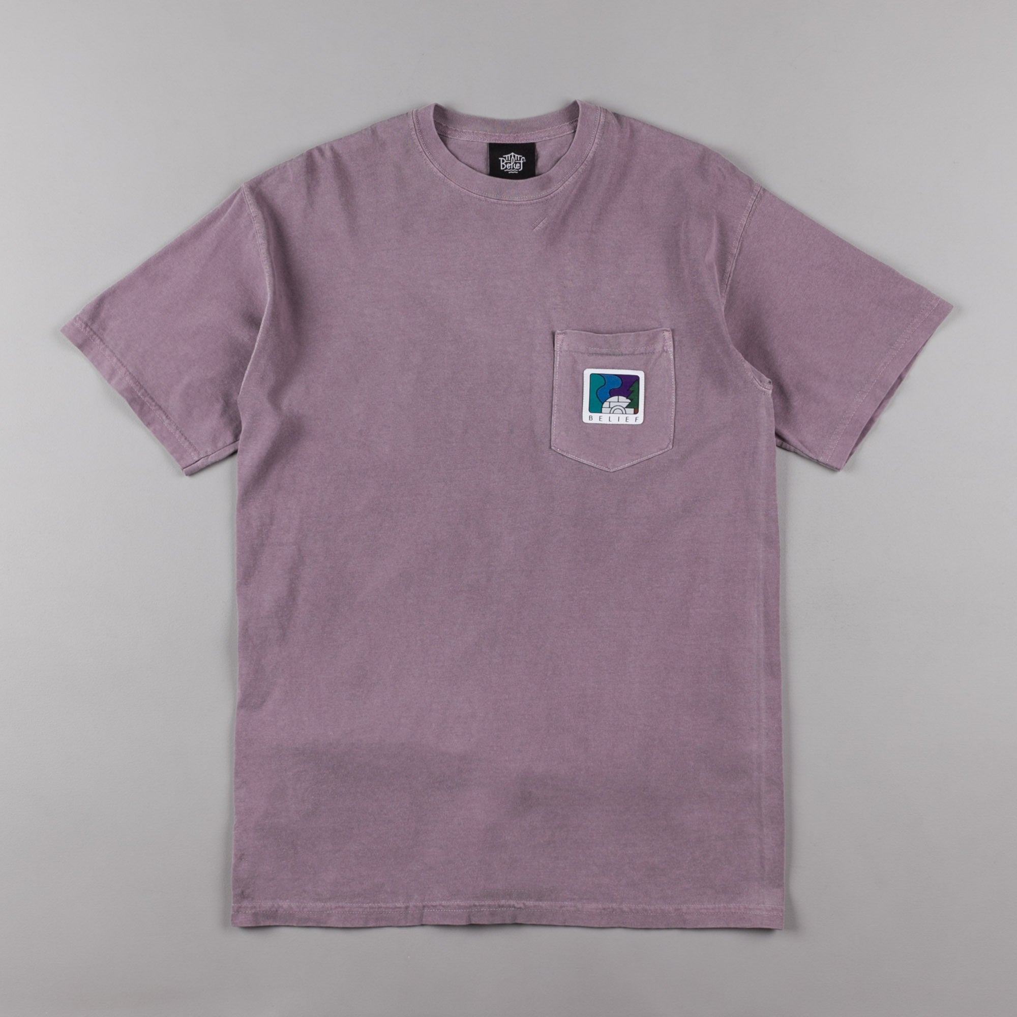 Belief Northern Lights Pocket T-Shirt - Clay