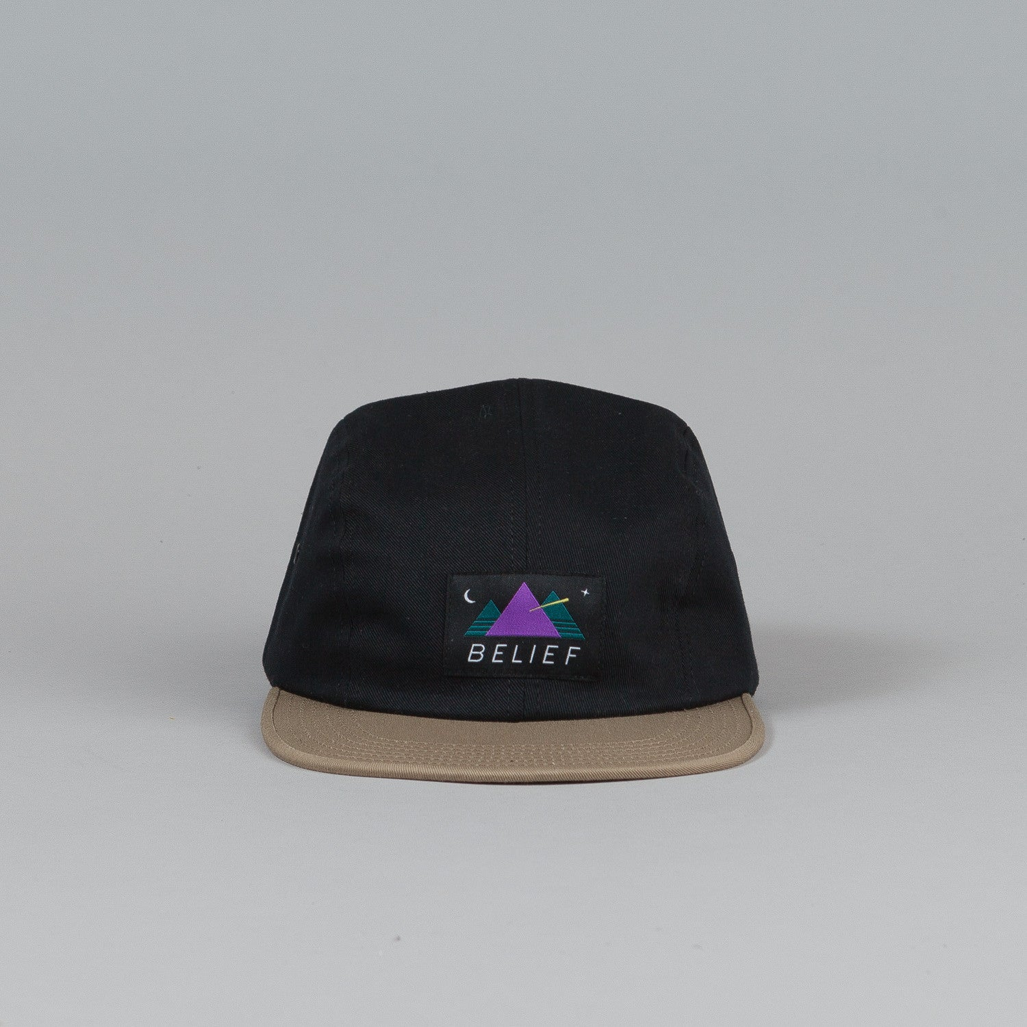 Belief Observer 4 Panel Cap Black / Tan