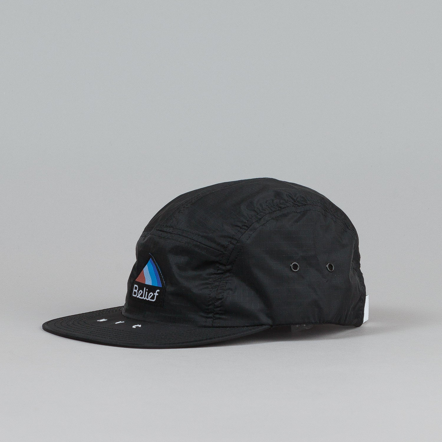 Belief Parachute 5 Panel Cap Black