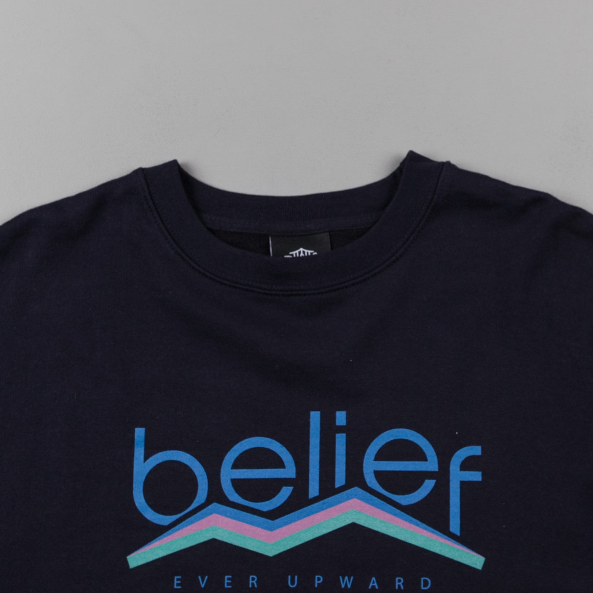 Belief Peak Crewneck Sweatshirt - Navy