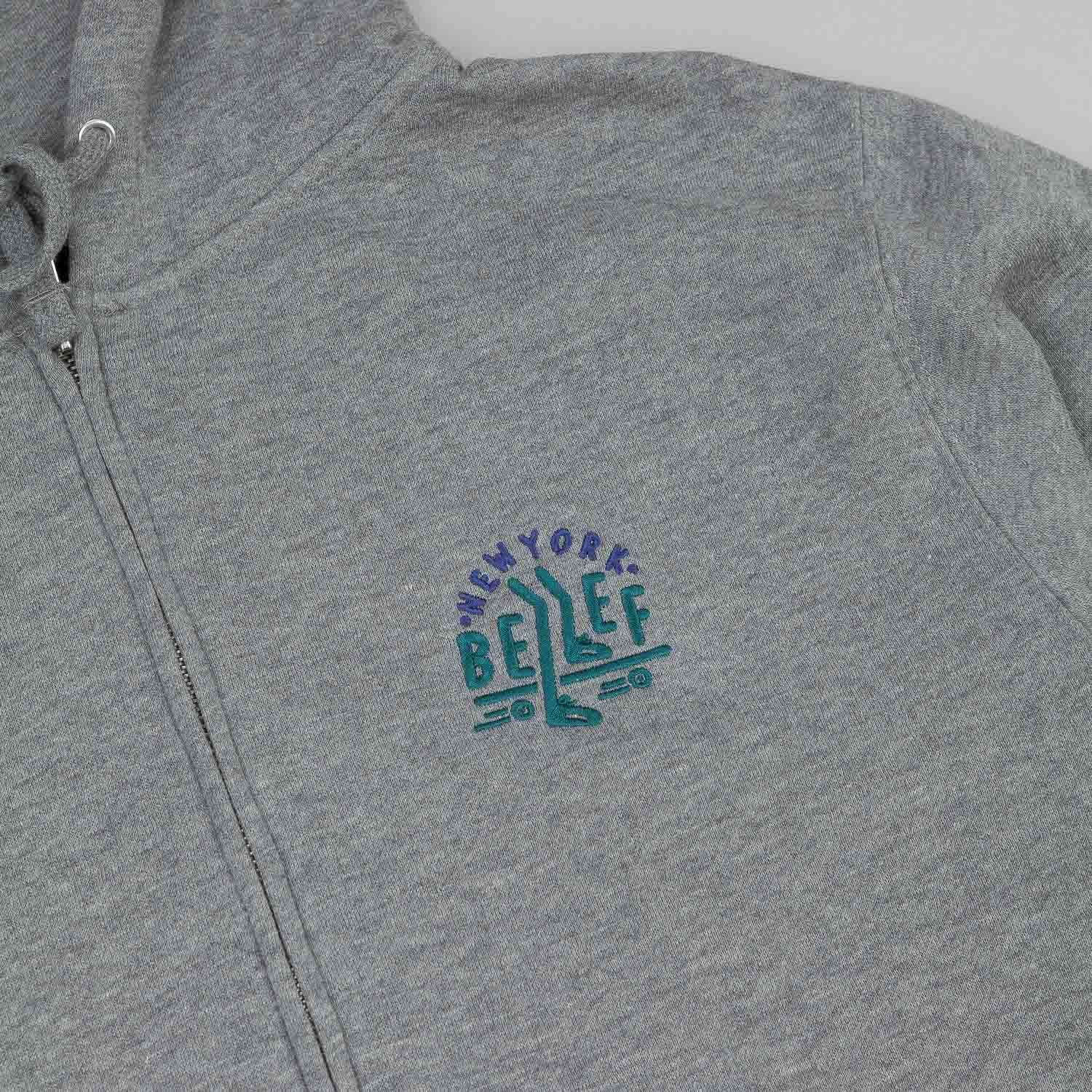 Belief Pusher Zip Hooded Sweatshirt - Heather Grey