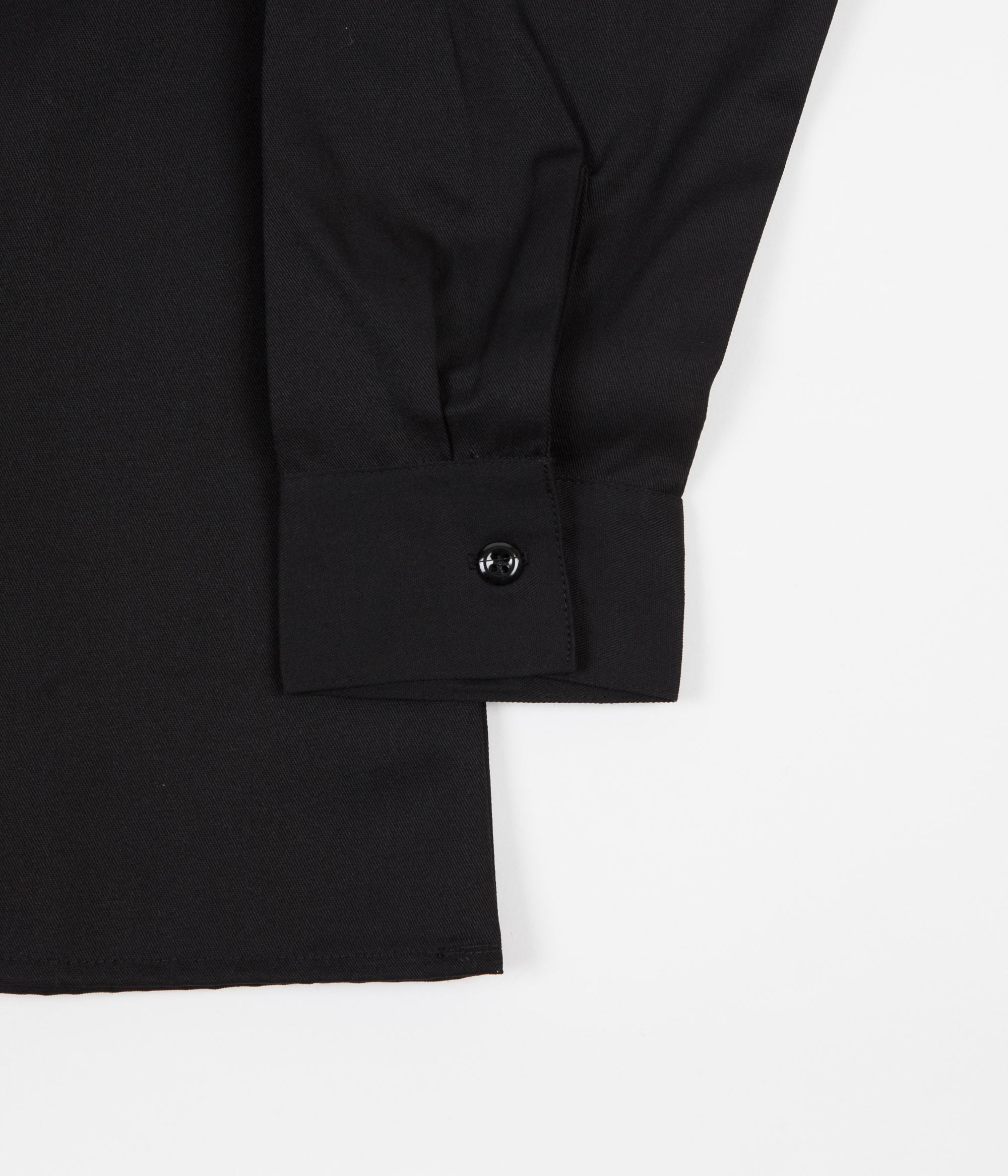Ben Davis 1/2 Zip Long Sleeve Shirt - Black