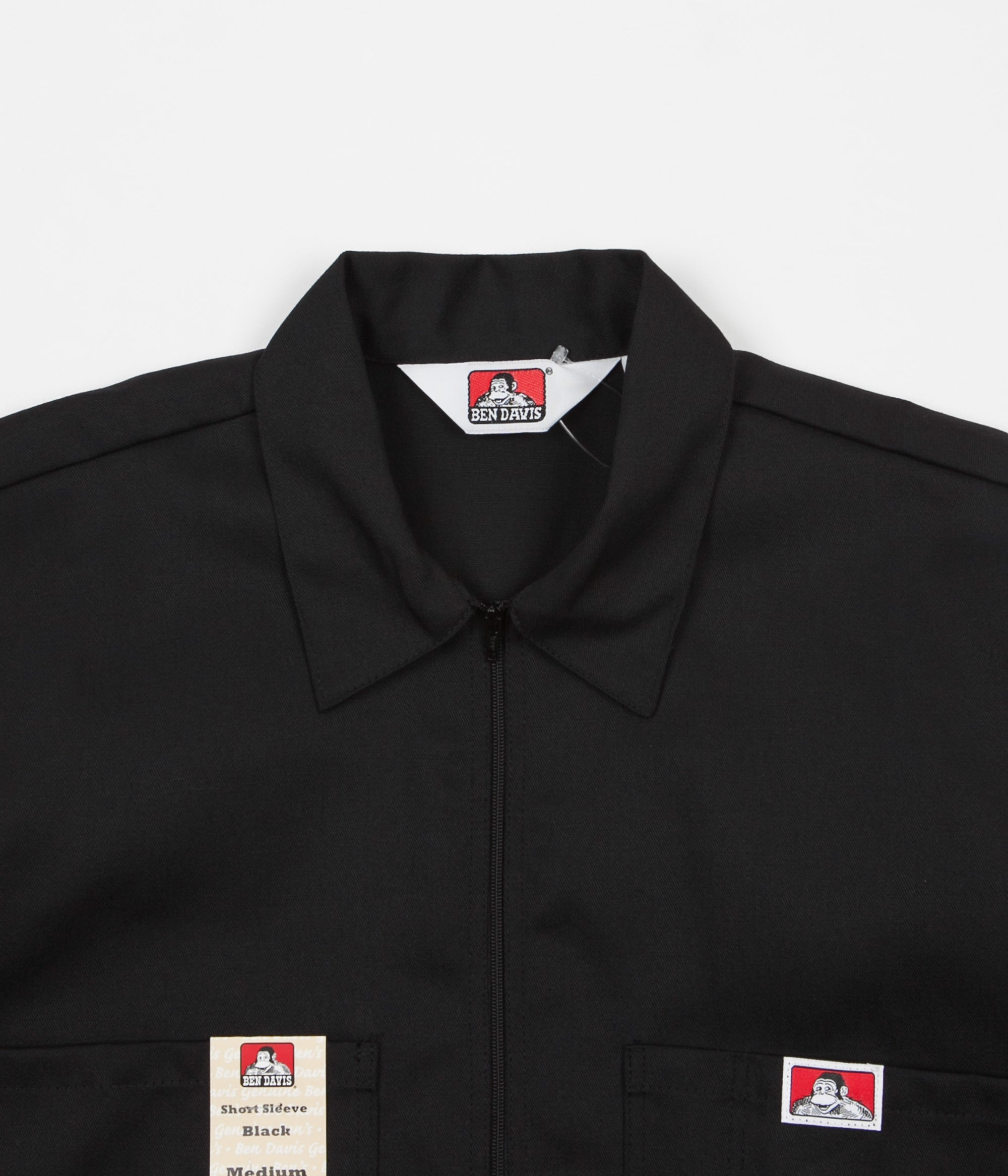 Ben Davis 1/2 Zip Shirt - Black