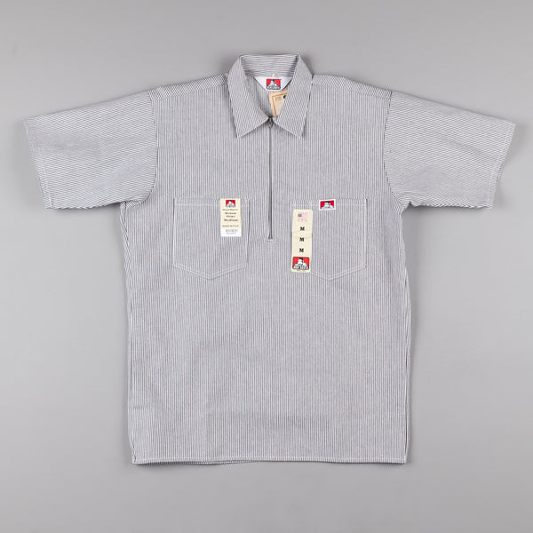 Ben Davis 1/2 Zip Shirt - Hickory Stripe