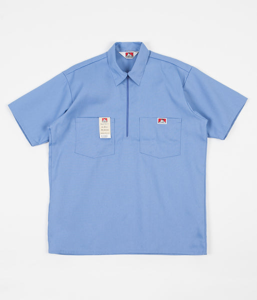 Ben Davis 1/2 Zip Shirt - Light Blue