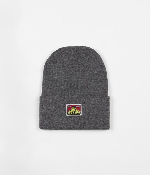 Ben Davis Logo Beanie - Charcoal Heather