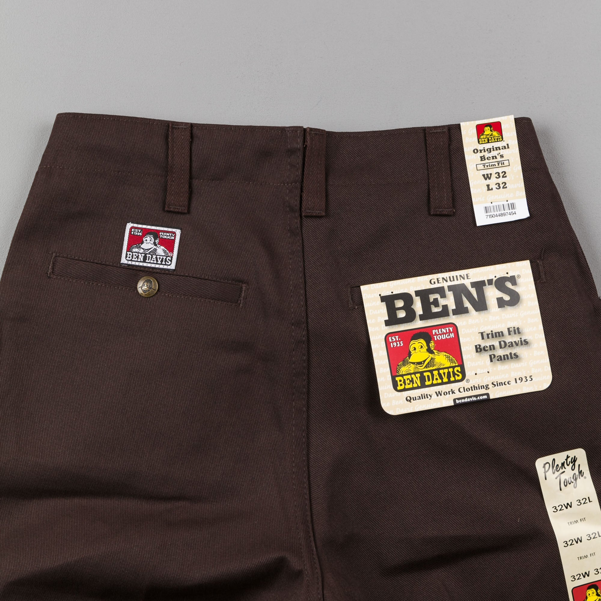 Ben Davis Trim Fit Trousers - Brown