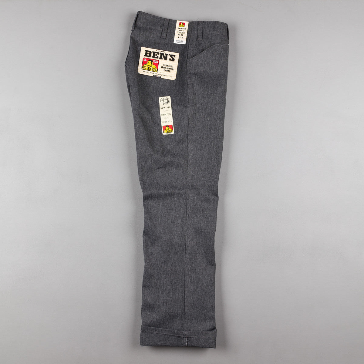 Ben Davis Trim Fit Work Trousers - Charcoal