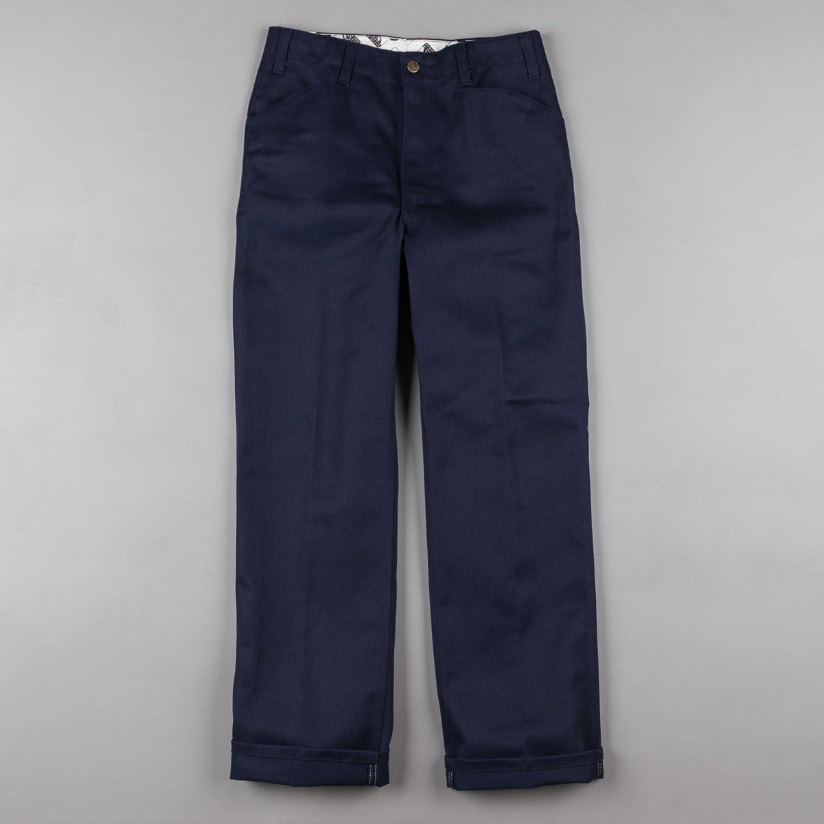 Ben Davis Trim Fit Work Trousers - Navy