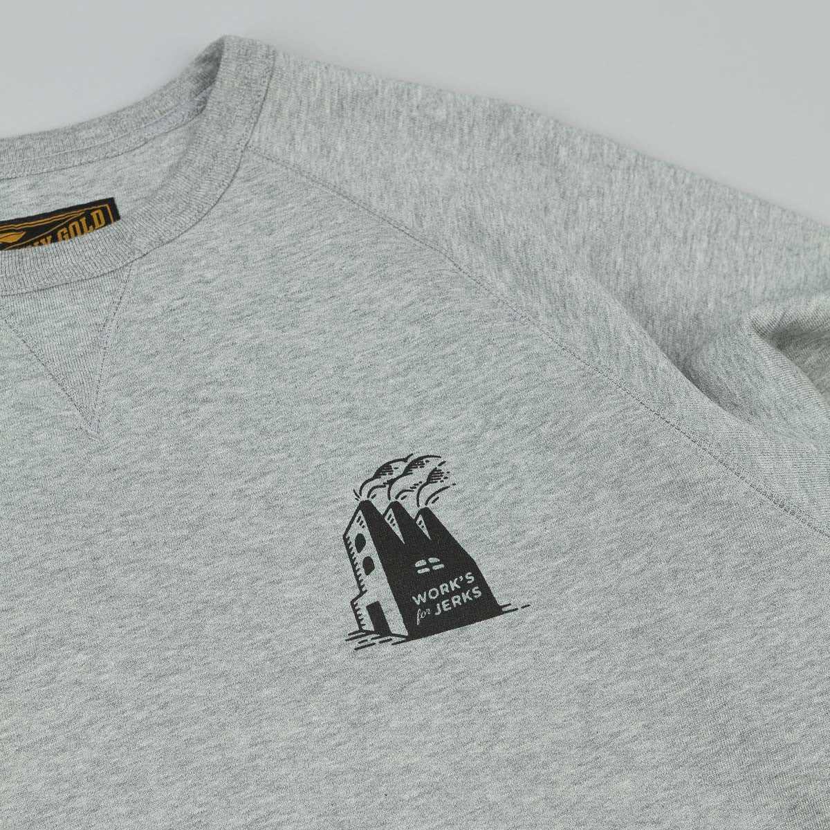 Benny Gold Factory Premium French Terry Crew Neck Sweat - Heather Grey