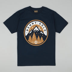 Benny Gold Mountain T-Shirt - Navy