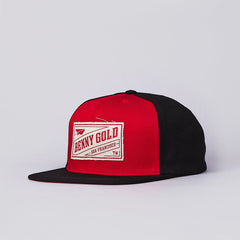 Benny gold Stamp Snapback Cap Red / Black