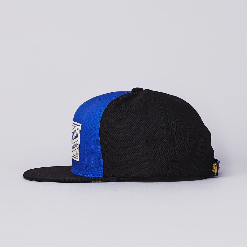 Benny Gold Stamp Snapback Cap Royal / Black