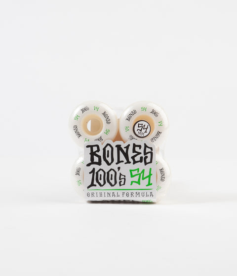 Bones 100's #12 V4 Wheels - White - 54mm