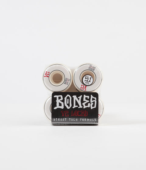 Bones STF V2 Annuals Locks 103a Wheels - White - 51mm