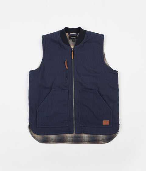 Brixton Abraham Vest - Washed Navy