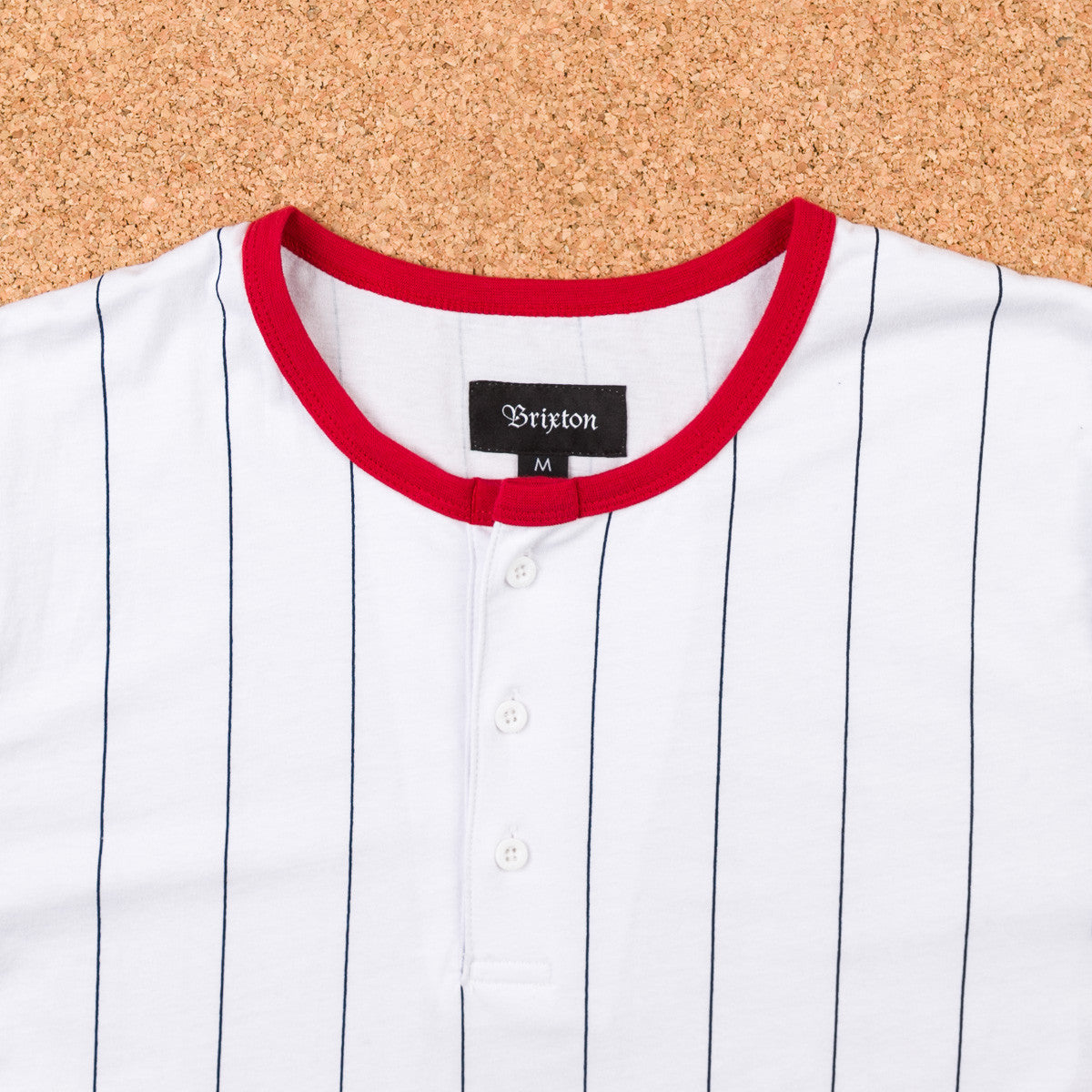 Brixton Adam Henley T-Shirt - White / Navy
