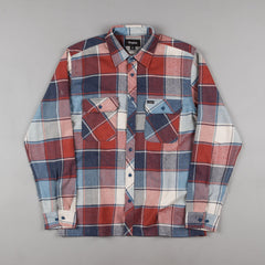 Brixton Archie Long Sleeve Flannel Shirt - Light Blue Plaid