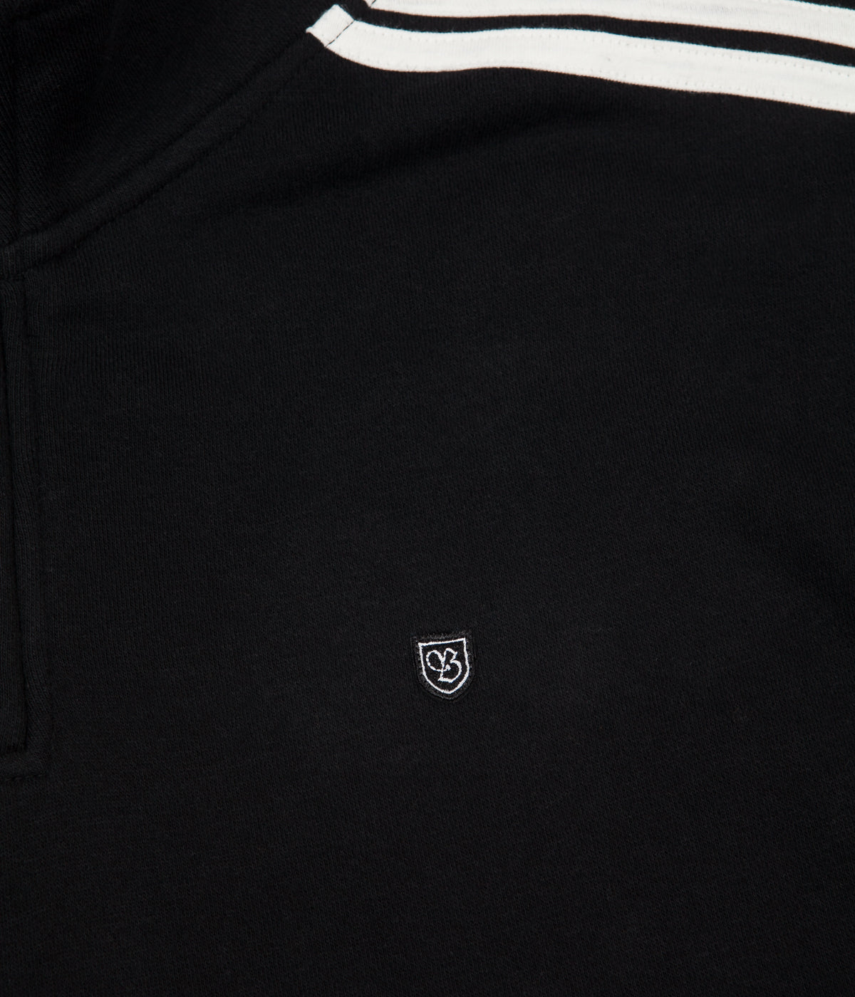 Brixton B-Shield 1/2 Zip Sweatshirt - Black / Cream