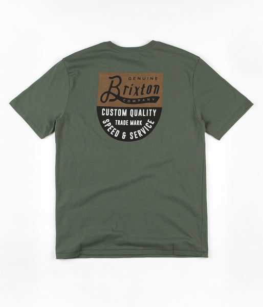 Brixton Badge Premium T-Shirt - Chive