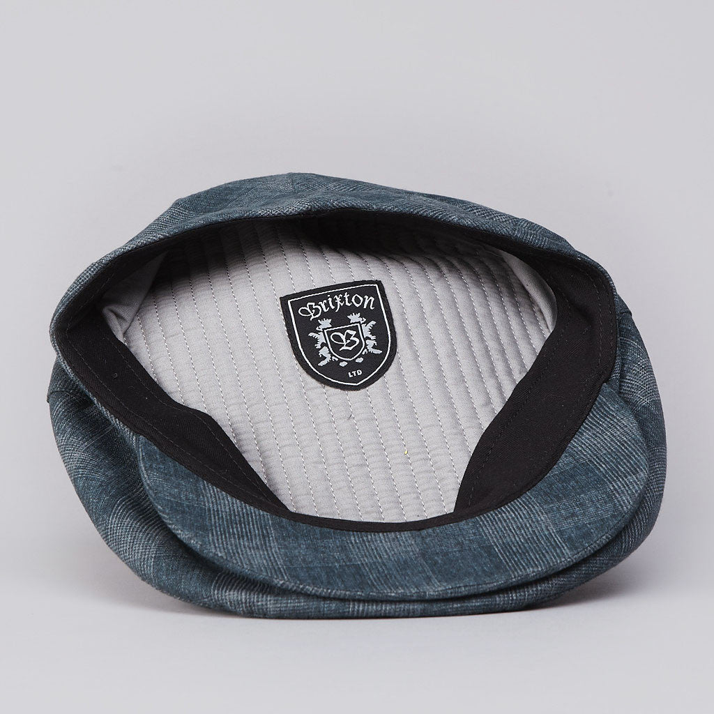 Brixton Barrel Hat Blue Plaid