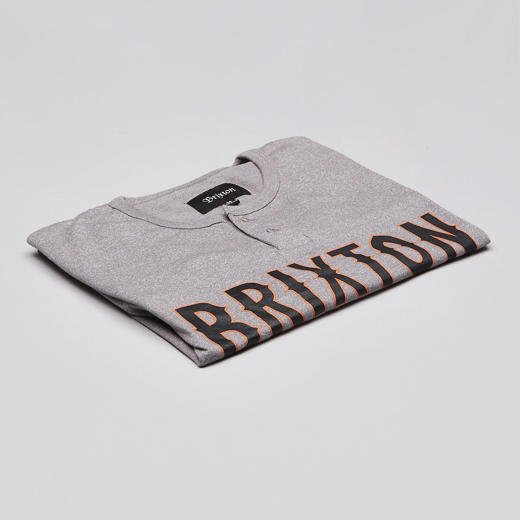 Brixton Benson T Shirt Heather Grey