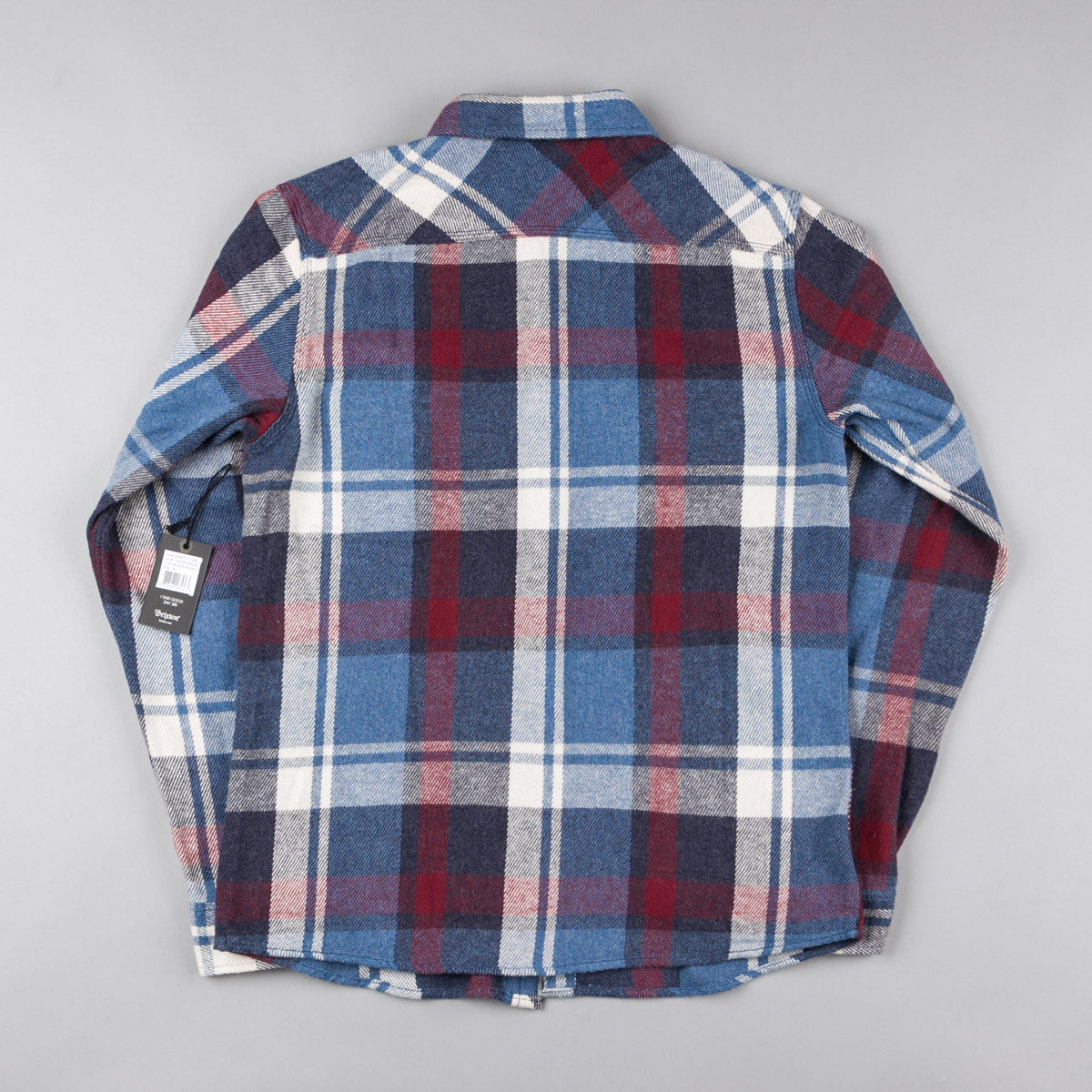 Brixton Bowery Flannel Shirt - Blue / Burgundy