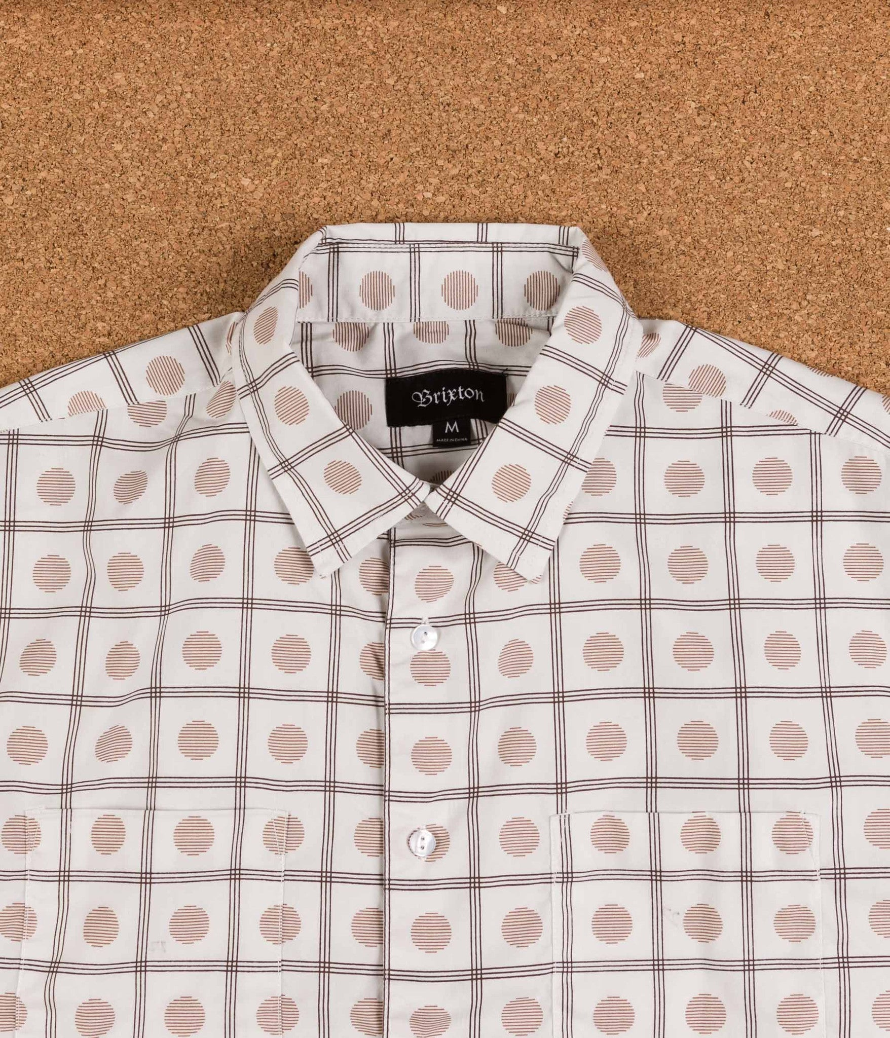 Brixton Branson Woven Shirt - Off White / Gold