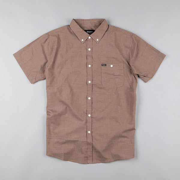 Brixton Central Woven Short Sleeve Shirt - Heather Brown