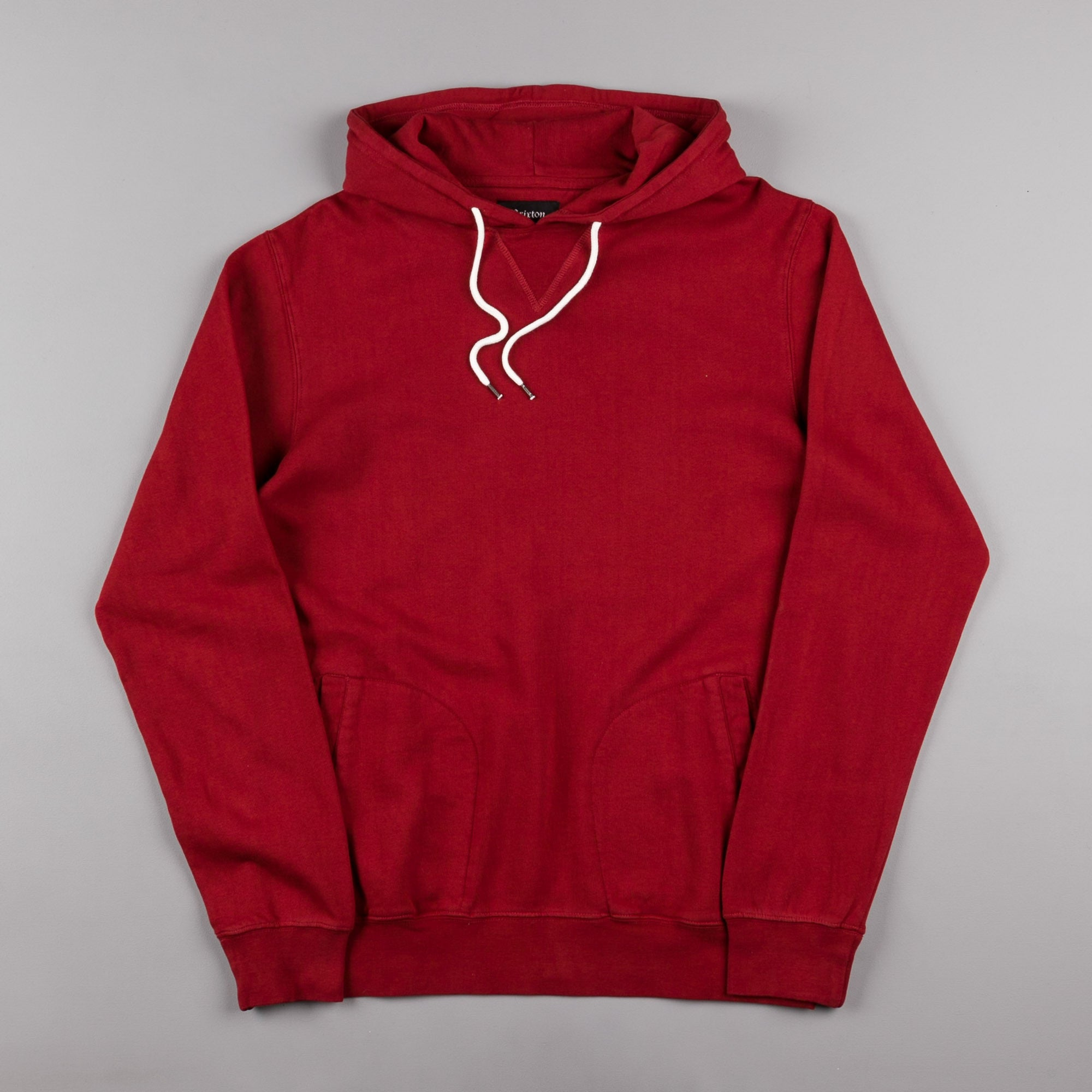 Brixton Damo Hooded Sweatshirt - Burgundy