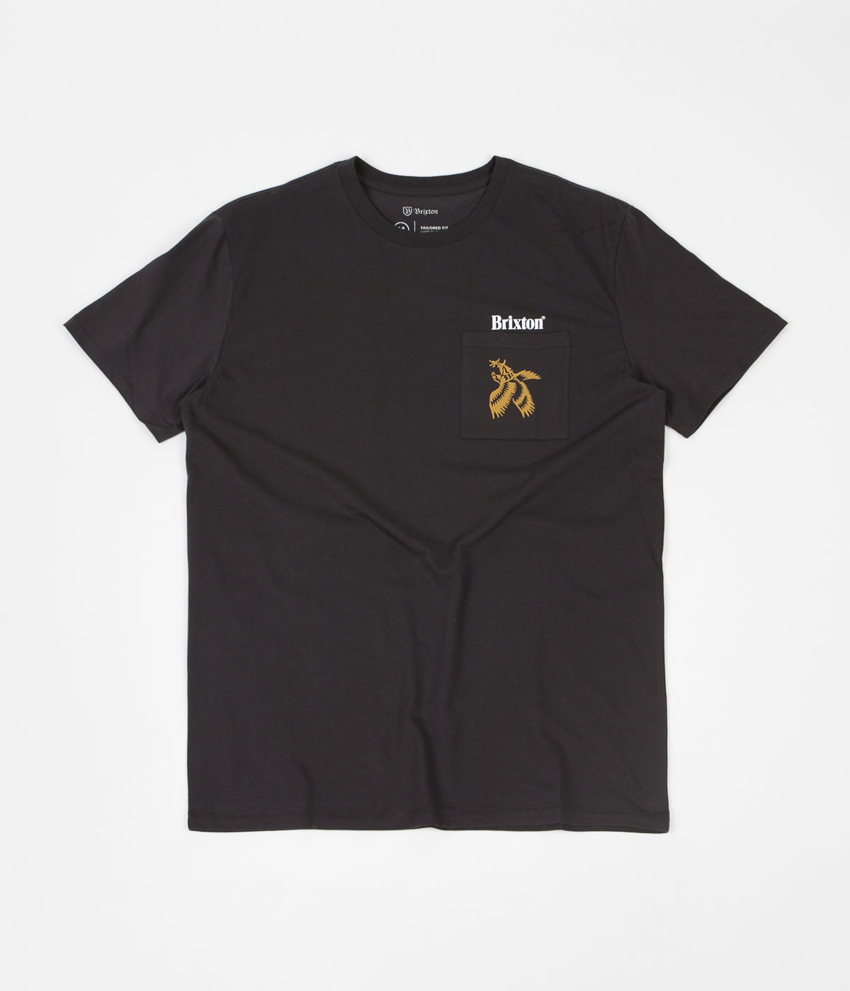Brixton Descent II Pocket T-Shirt - Washed Black
