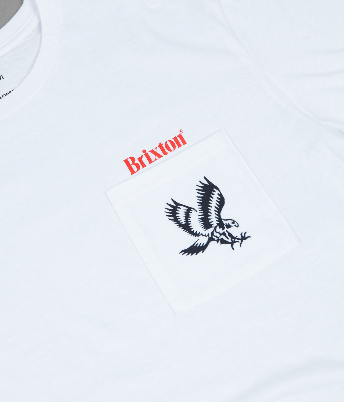 Brixton Descent II Pocket T-Shirt - White