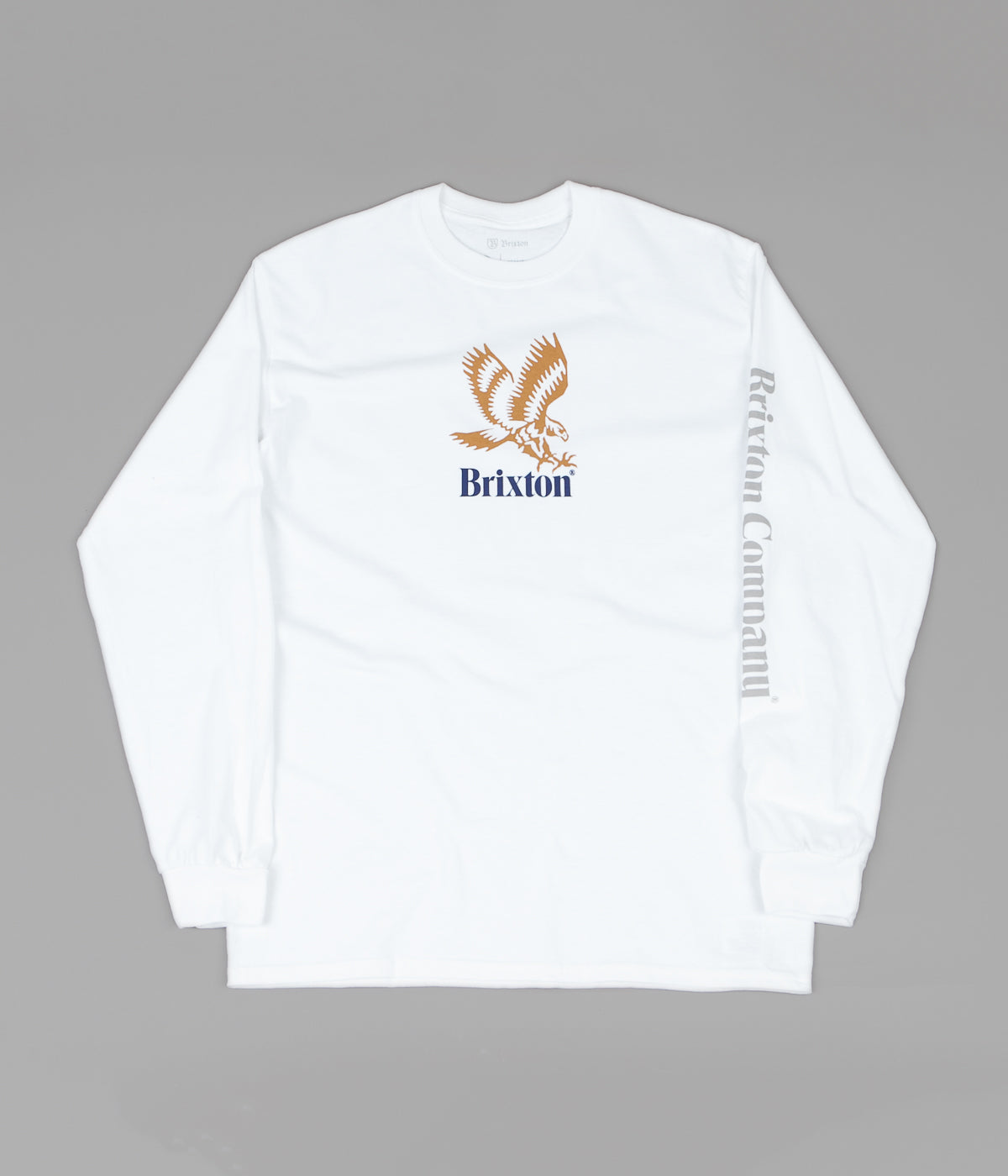 Brixton Descent III Long Sleeve T-Shirt - White