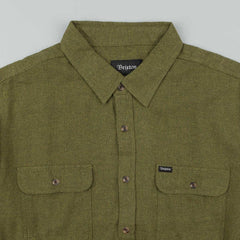Brixton Donez Long Sleeve Flannel Shirt - Green